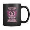 November Born Good Heart Nurse Mug