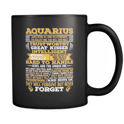 Aquarius Long Quote Mug