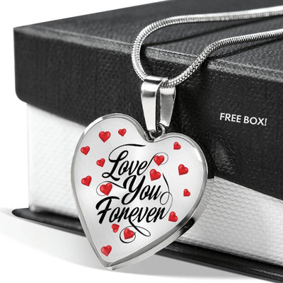 "Love You Forever Necklace With ""Custom Engraving"""
