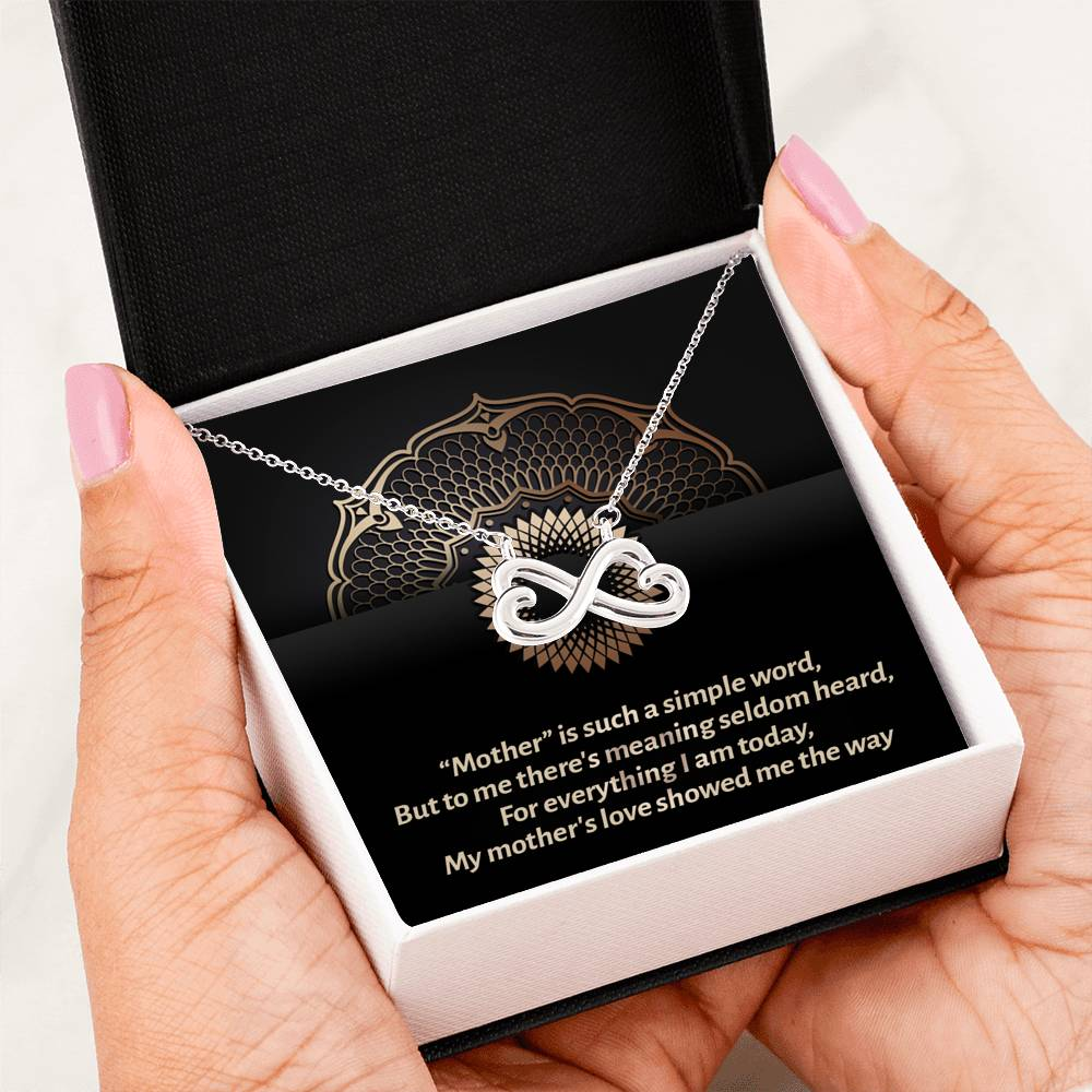 Premium Infinity Love Necklace For Mother