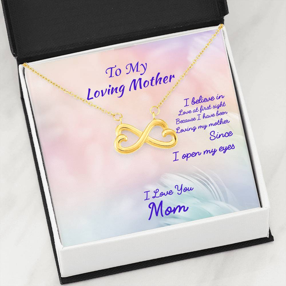 To My Loving Mother Necklace With Message Card