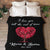 """Love You Till End"" Personalized Couple Blanket"