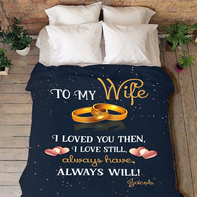 To My Beautiful Wife Personalized Blanket