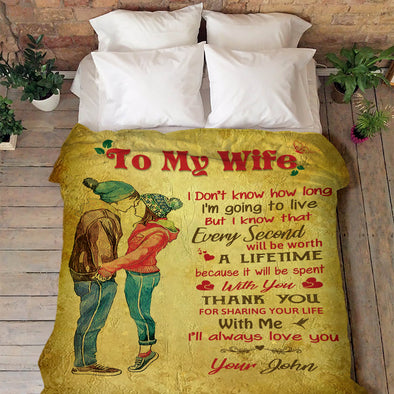 """I Will Always Love You"" To My Wife Blanket"
