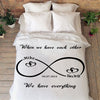 Limited Edition Infinity Love Personalized Blanket