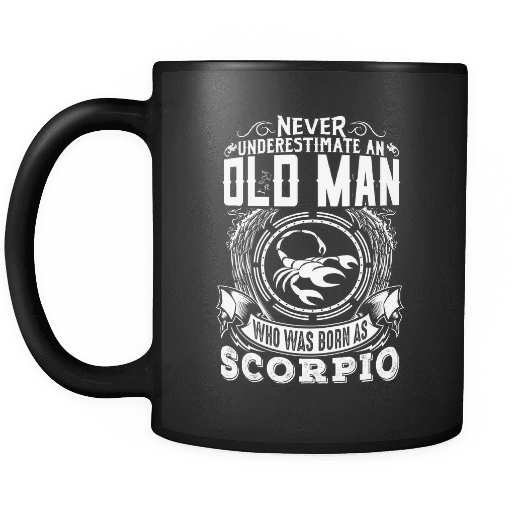 Scorpio Never Underestimate An Old Man Mug