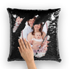 Family Sequin Pillow Cushion Cover