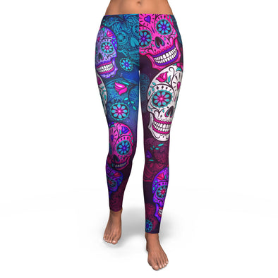 Sugar Skull Printed Legging
