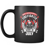 Never Underestimate July Born Firefighter Mug