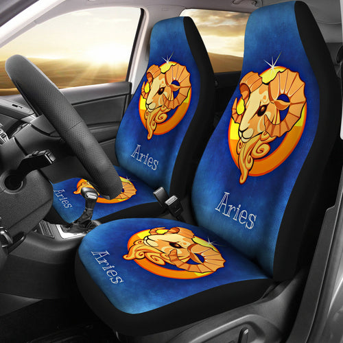 Zodiac Sign Aries Car Seat Cover