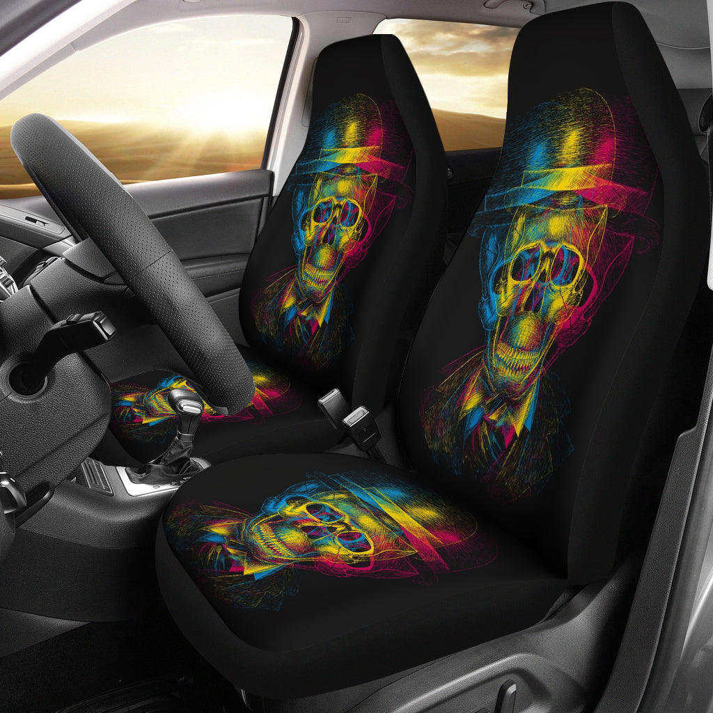 Colorful Skull Face Car Seat Cover