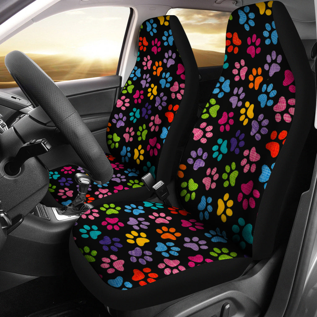 Cute Cat Paws Print Car Seat Cover