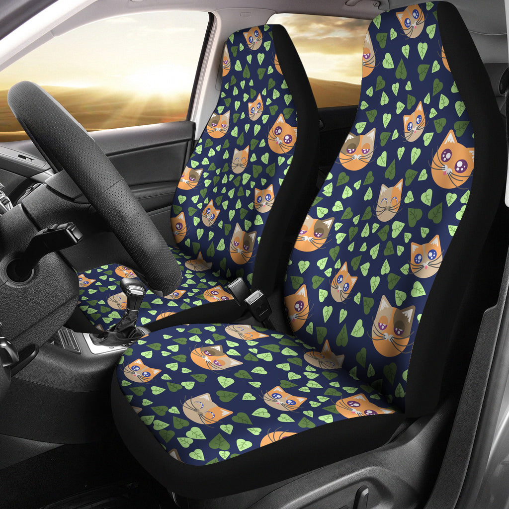 Cute Cat Face Pattern Car Seat Cover