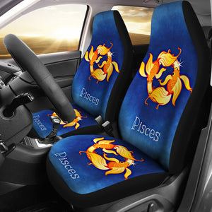 Zodiac Sign Pisces Car Seat Cover