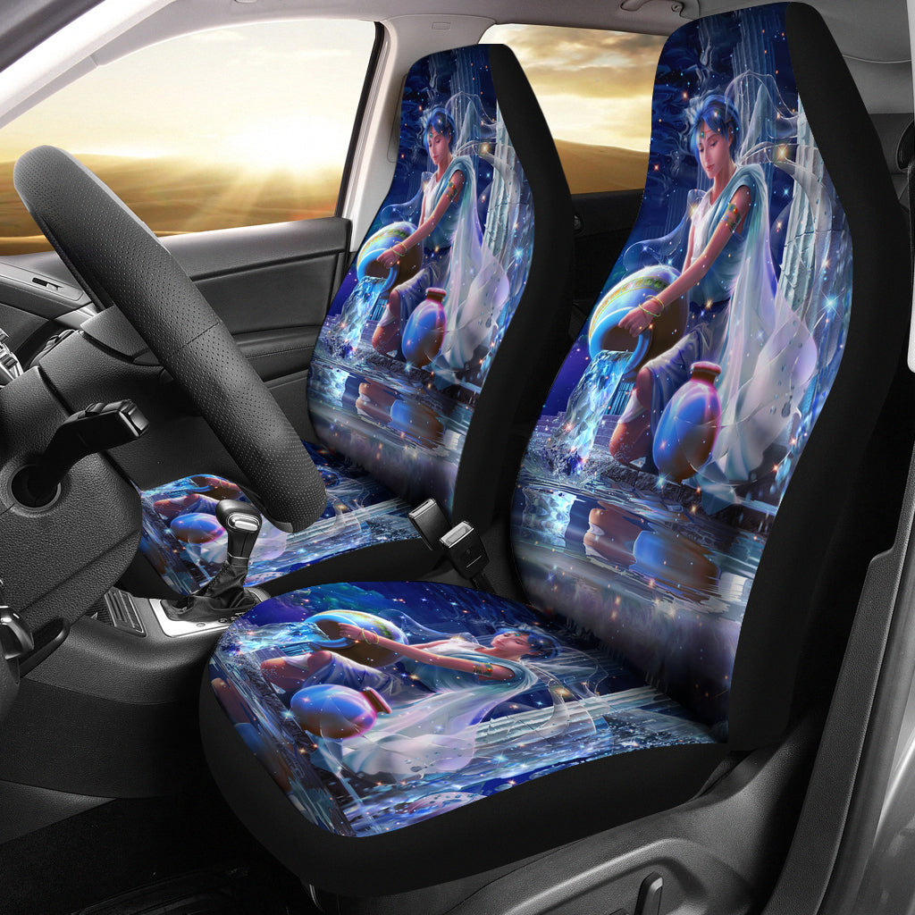 Aquarius Print Car Seat Cover