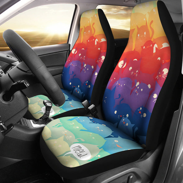 Adorable Cat Car Seat Cover