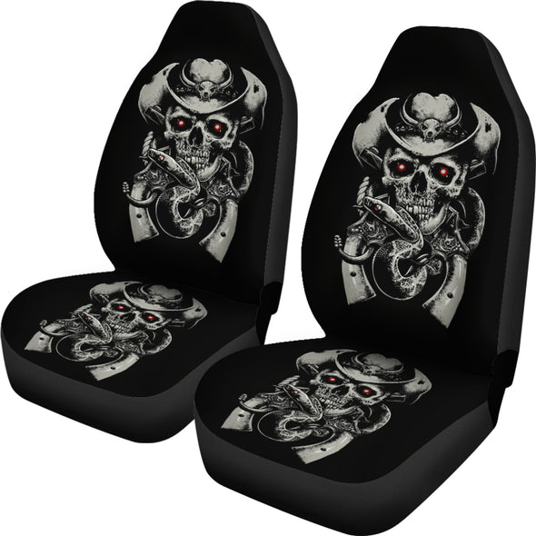 Black Skull Face Car Seat Cover