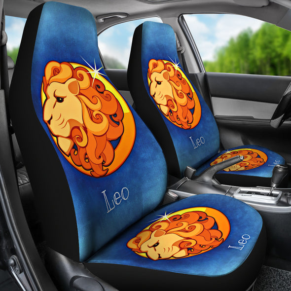 Zodiac Sign Leo Car Seat Cover