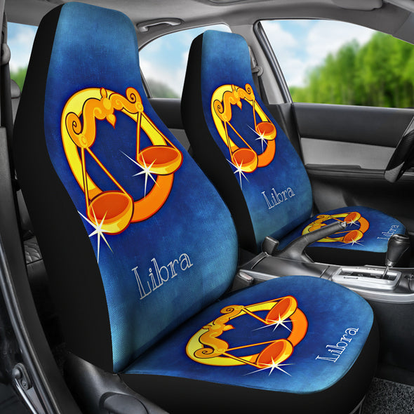Zodiac Sign Libra Car Seat Cover