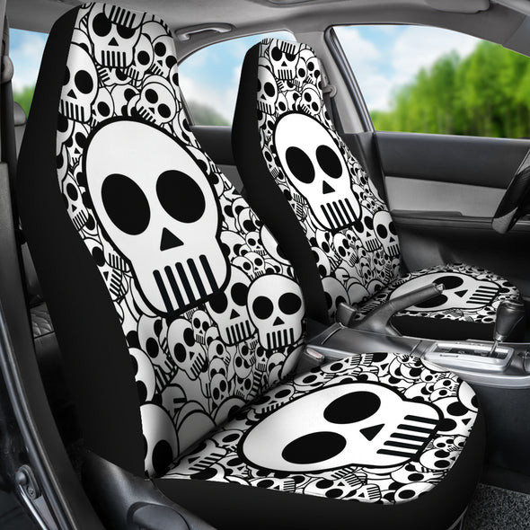Funny Skull Face Car Seat Cover