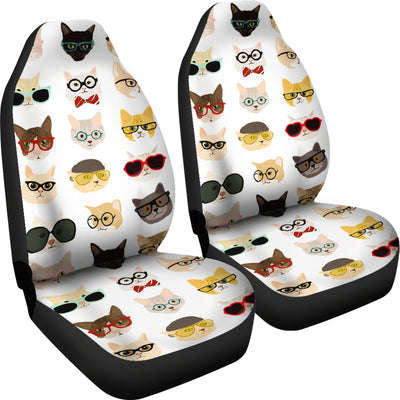 Adorable Cat Faces Car Seat Cover