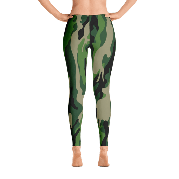 Limited Edition Forest Green Camouflage Printed Leggings