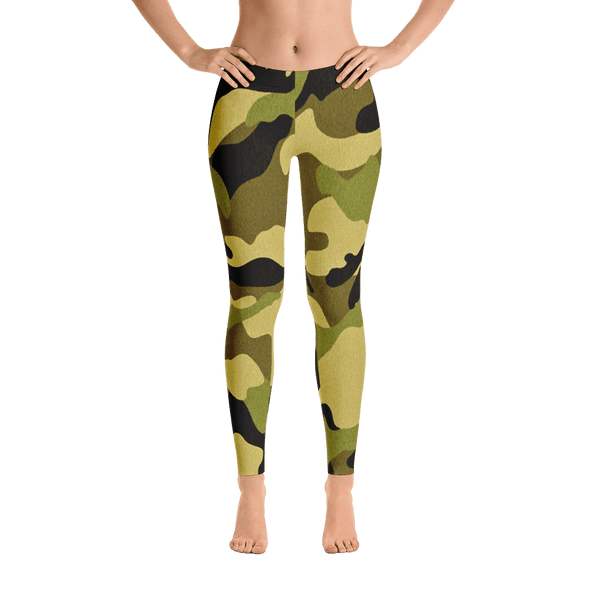Limited Edition Forest Camouflage Printed Leggings