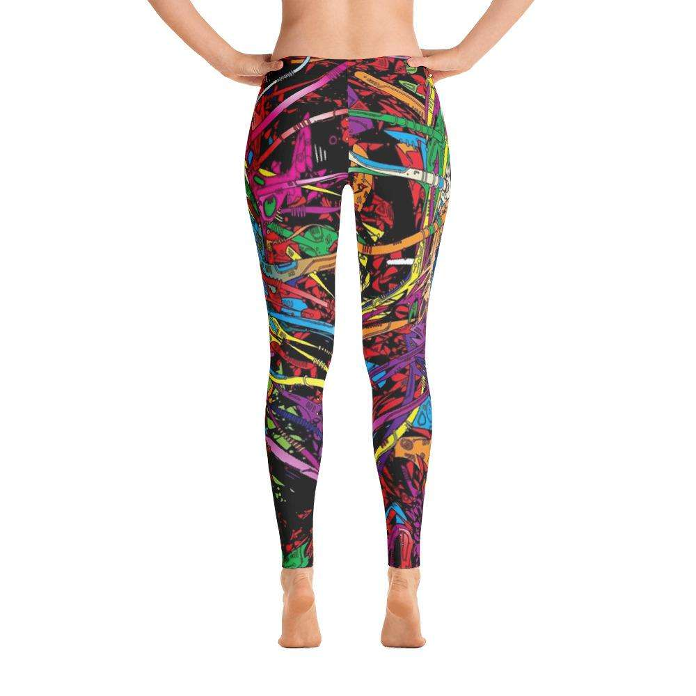 Multi Color Skull Eye Print Leggings