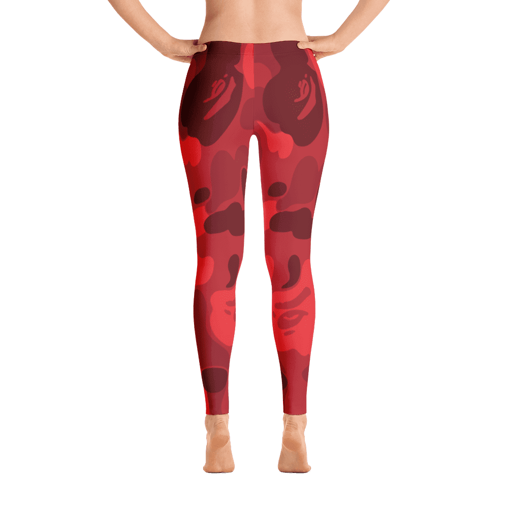 Limited Edition Red Camouflage Printed Leggings