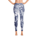 Limited Edition Blue - Grey Camouflage Printed Leggings