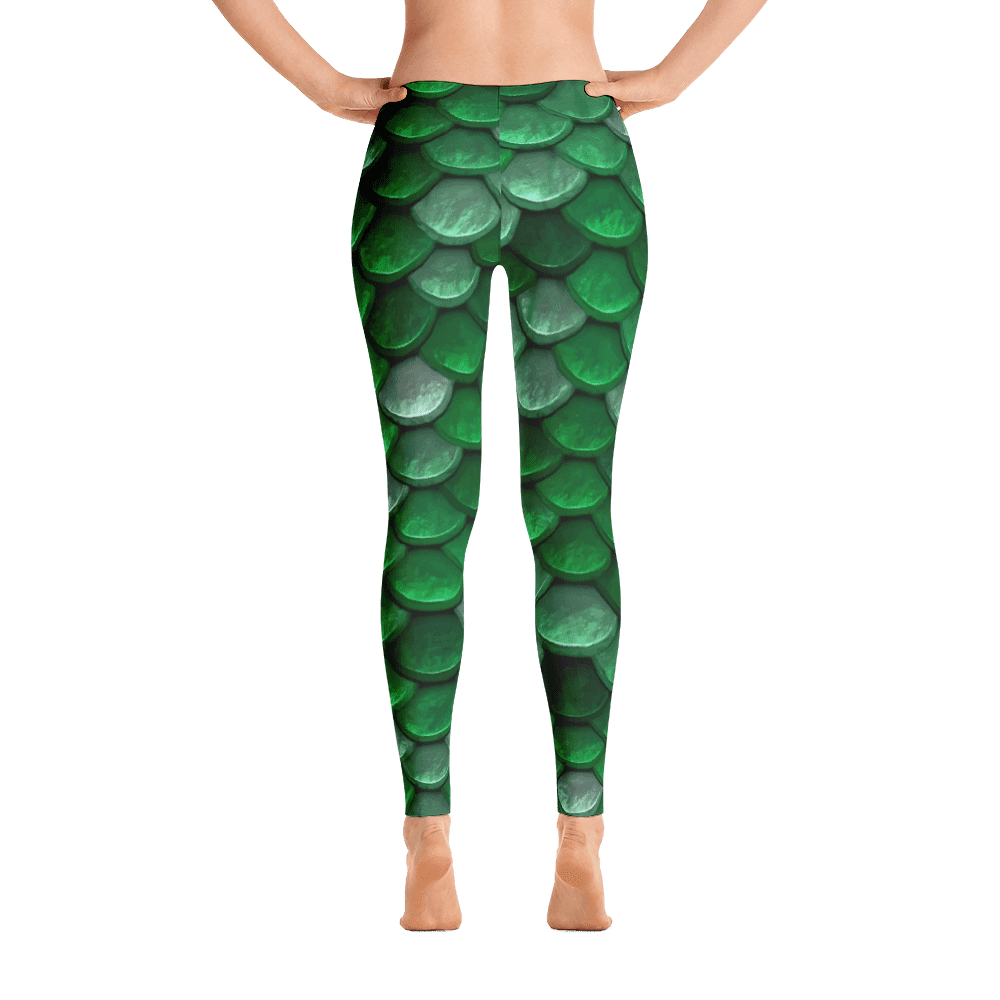 Limited Edition Sea Green Fish Scale Printed Leggings