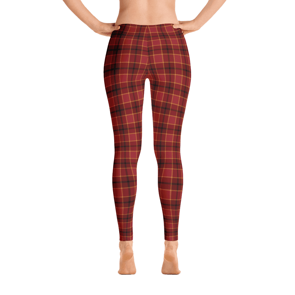 Limited Edition Red Check Print Leggings