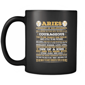 Aries Long Quote Mug