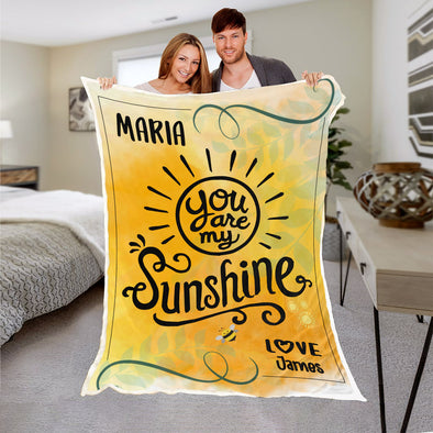 You Are My Sunshine Personalized Blanket