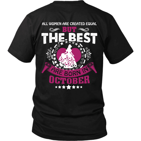 Limited Edition ***Best Are Born In October Back Print*** Shirts & Hoodies