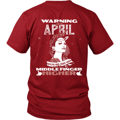 Limited Edition ***April Girl Head High Back Print*** Shirts & Hoodies