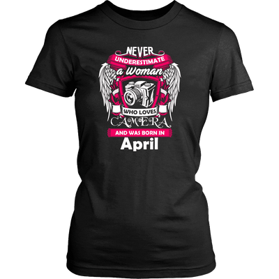 April Women Who Loves Camera Shirts, Hoodie & Tank