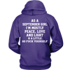 Limited Edition ***September Girl Peace Love*** Shirts & Hoodies