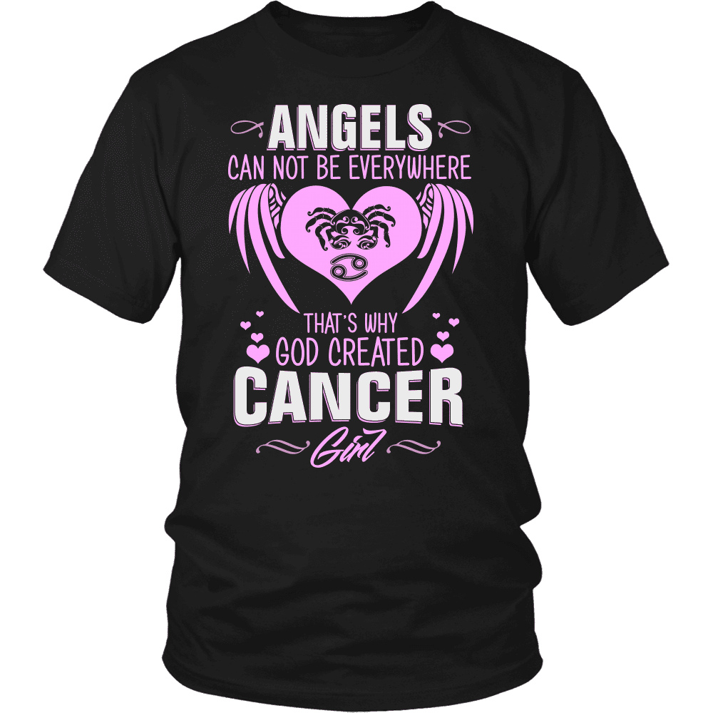 God Created Cancer Girl Limited Edition Shirts