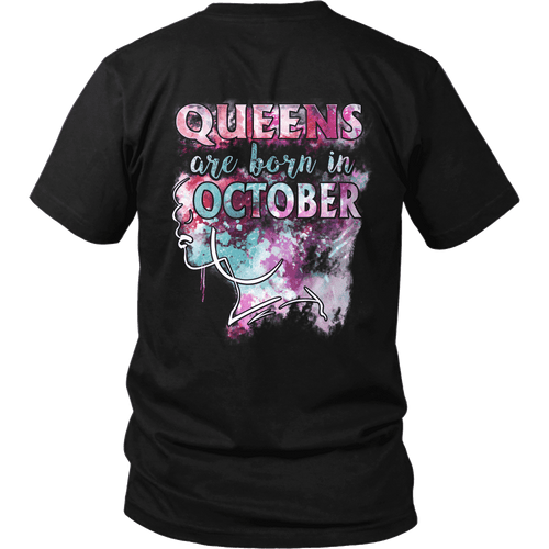 **Limited Edition** October Born Queen Back Print Shirt