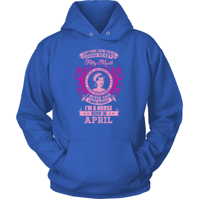 April Born Good Heart Nurse Shirt, Hoodie & Tank