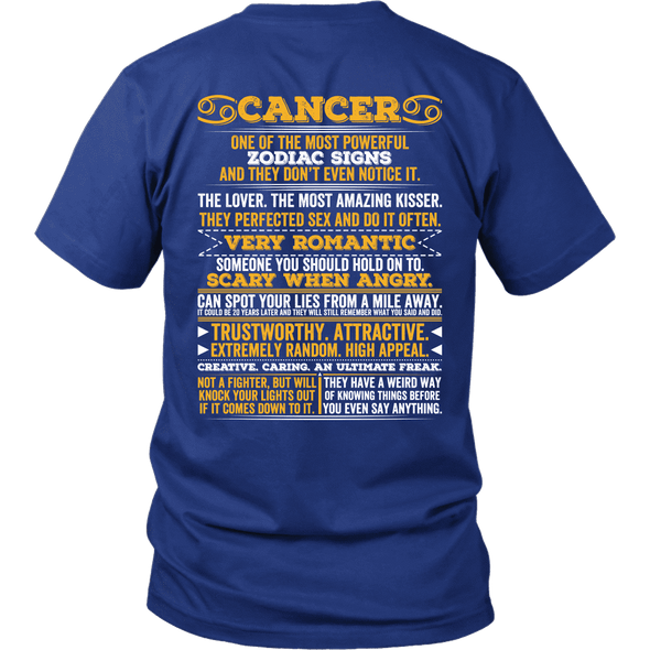 ***Limited Edition Back Printed Cancer Shirts*** Not Available In Stores