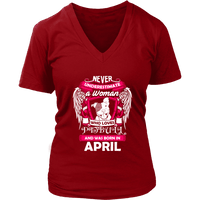 April Women Who Loves Pitbull Shirt, Hoodie & Tank