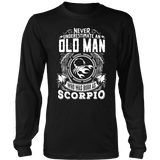 Old Man Scorpio Shirt - Limited Edition Scorpio Shirt, Hoodie & Tank