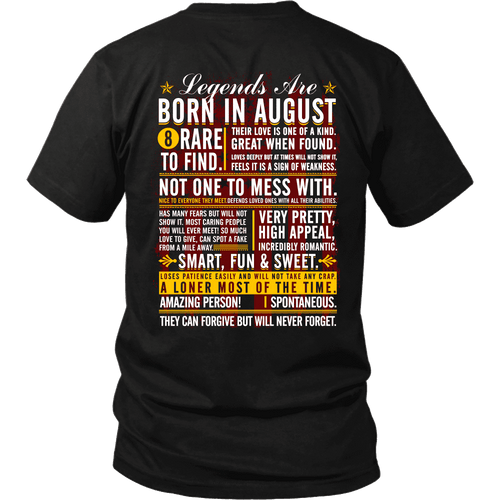 ***Limited Edition August Shirt***Selling FAST