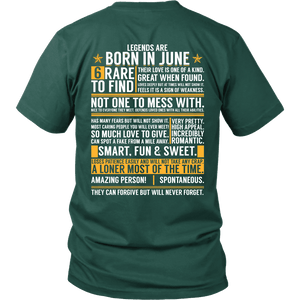 6 Rare Things To Find - Born In June Shirts