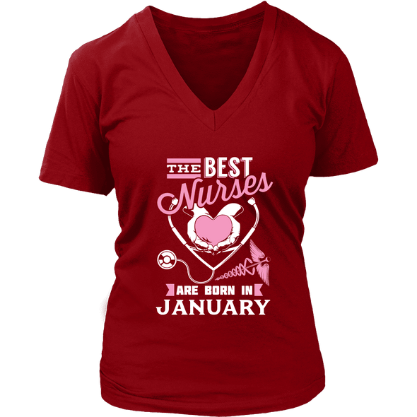 Best Nurses Are Born In January Women Shirts, Hoodie & Tank