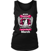 March Women Who Loves Pitbull Shirt, Hoodie & Tank