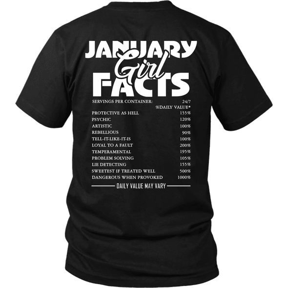 Limited Edition ***January Girl Facts*** Shirts & Hoodies