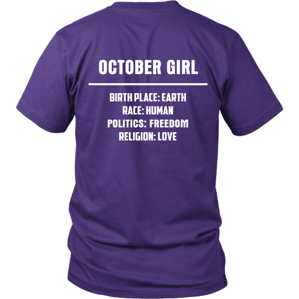 Limited Edition **October Girl Birth Place** Shirts & Hoodies